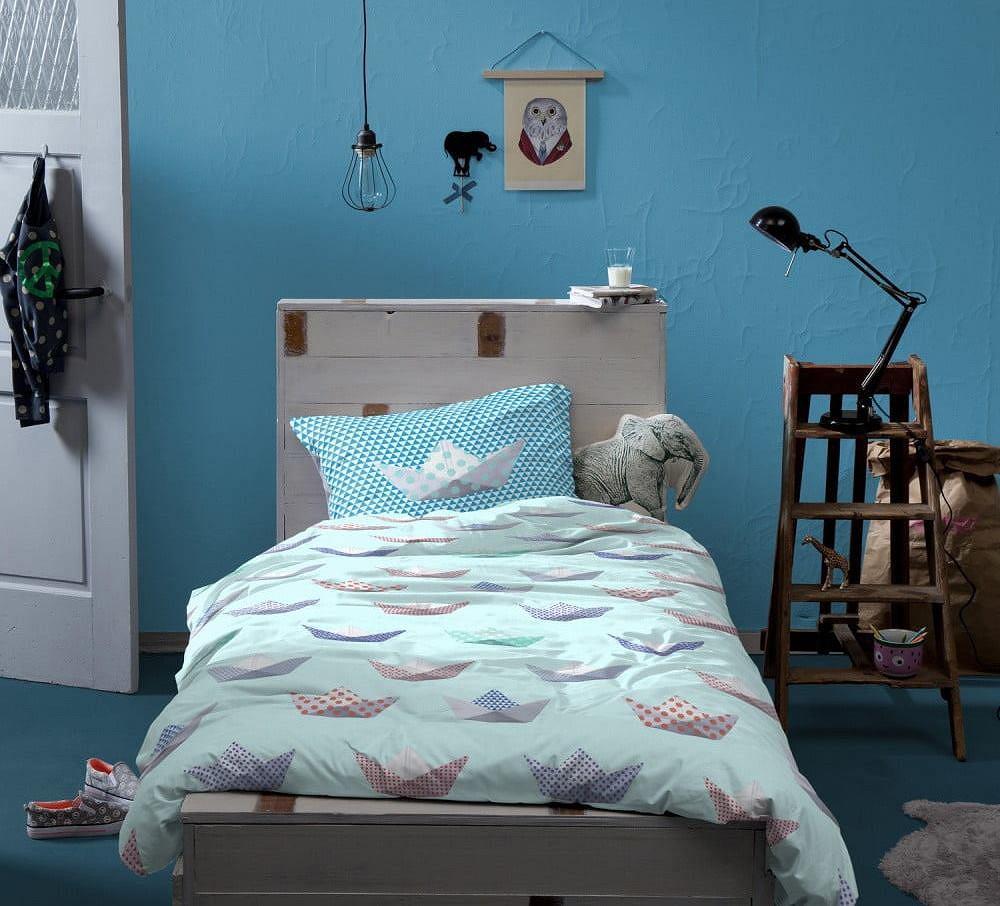 Niebieska sypialnia dla nastolatki