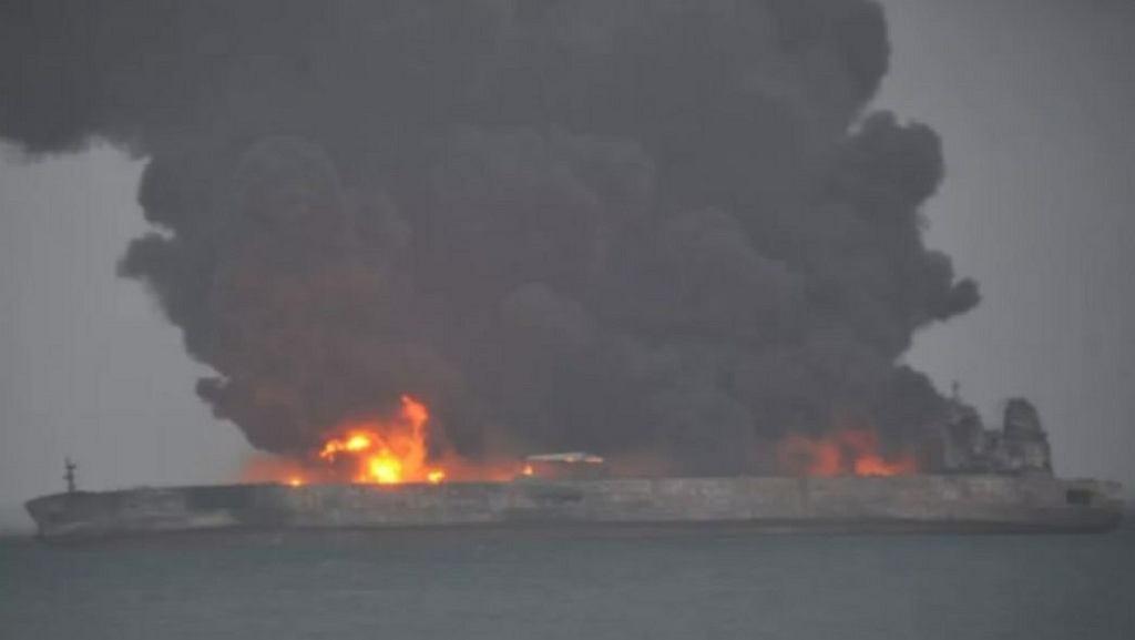Tankowiec 'Sanchi' przewoził irańską ropę
