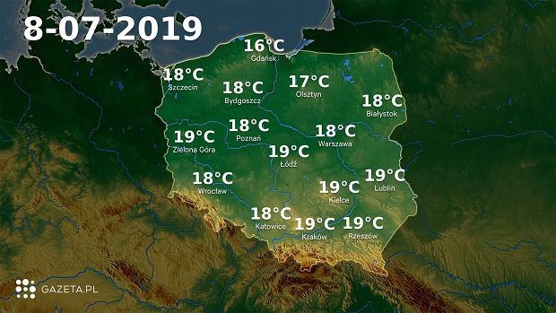 Pogoda na dziś - poniedziałek 8 lipca.