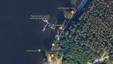 Okolice nad Jeziorem Krzywym, w których ma zostać wybudowany ekskluzywny hotel w Olsztynie