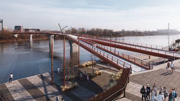 Wizualizacja mostu pieszo-rowerowego