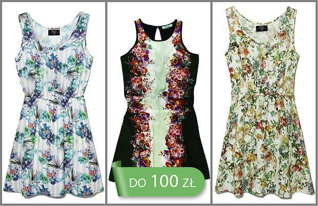 HIT: sukienki obsypane płatkami do 100 zł