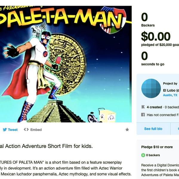 Nieudane zbiórki - The Adventures of Paleta Man