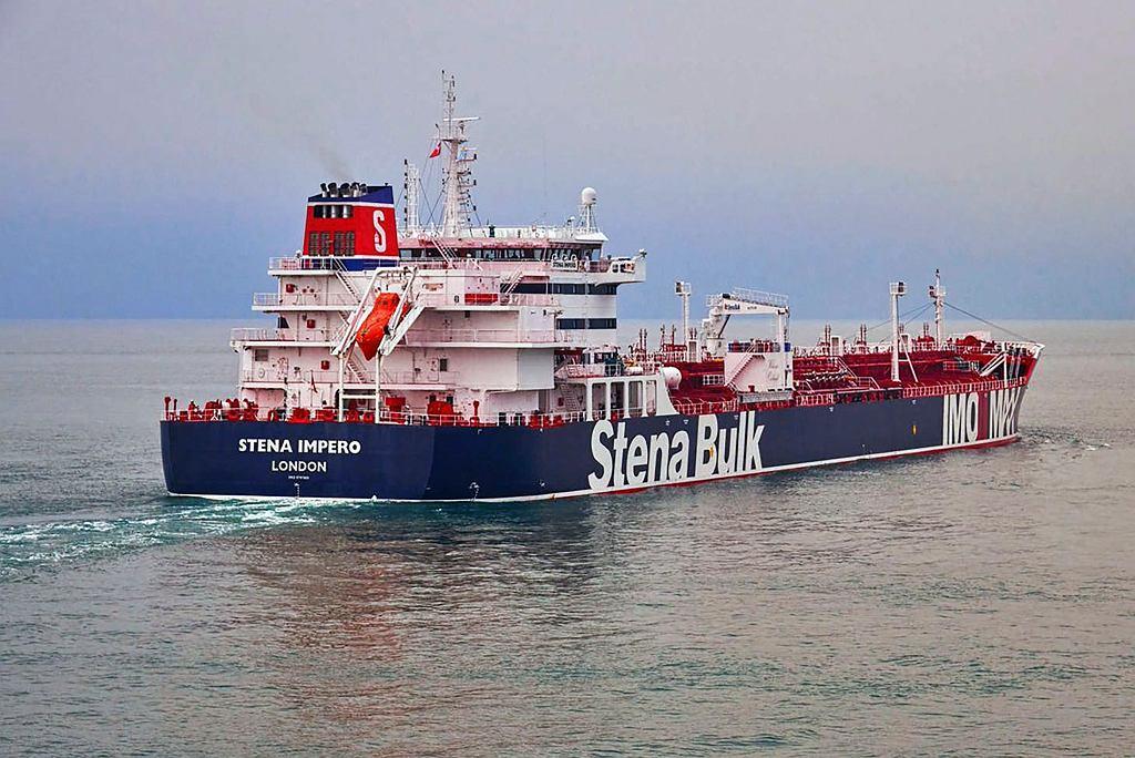 Brytyjski tankowiec Stena Imperio (Stena Bulk) zajęty 19 lipca przez Irańczyków w Cieśninie Ormuz.