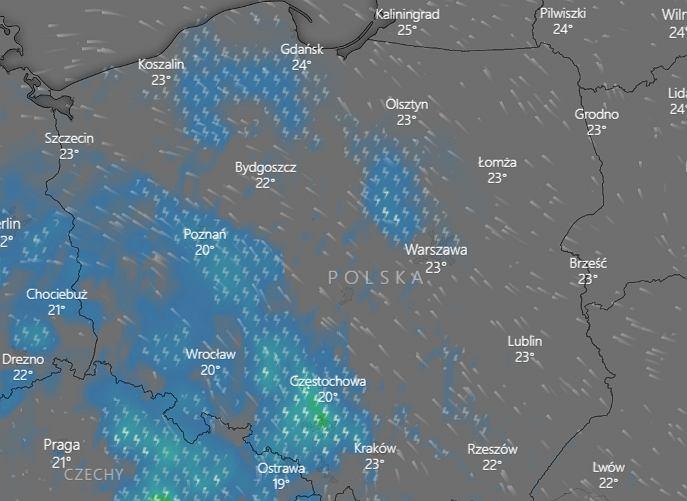 Burze nad Polską - prognoza na piątek 26 czerwca