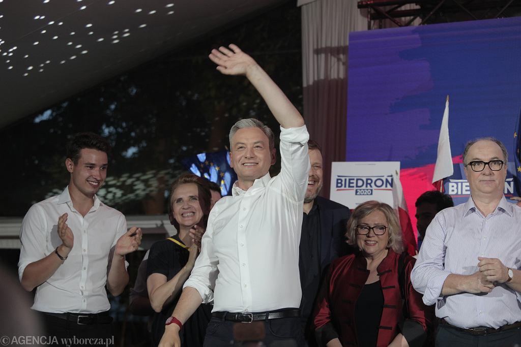 Wieczór wyborczy Roberta Biedronia