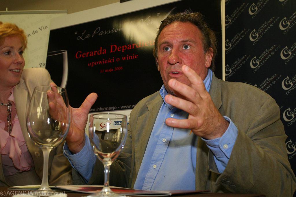 Gerard Depardieu w Warszawie w 2006 r.