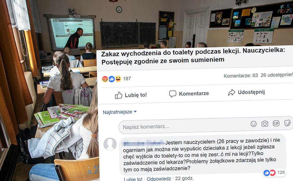 Coraz częstszy zakaz wychodzenia do toalet podczas lekcji w polskich szkołach wzbudza wiele kontrowersji