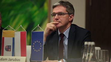 Kielce 6.02.2018, marszałek Adam Jarubas na posiedzeniu Komisji ds. Polski Wschodniej Związku Województw RP