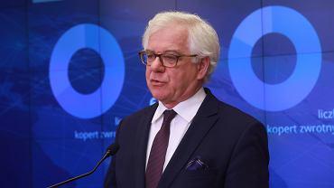 \Konferencja prasowa ministra spraw zagranicznych w Warszawie w sprawie wyborw prezydenckich