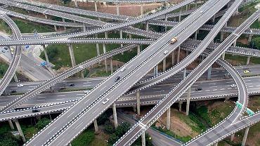 5-poziomowy wiadukt w Chinach