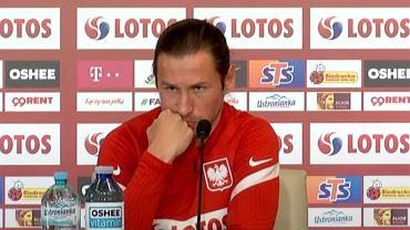 Grzegorz Krychowiak na konferencji prasowej