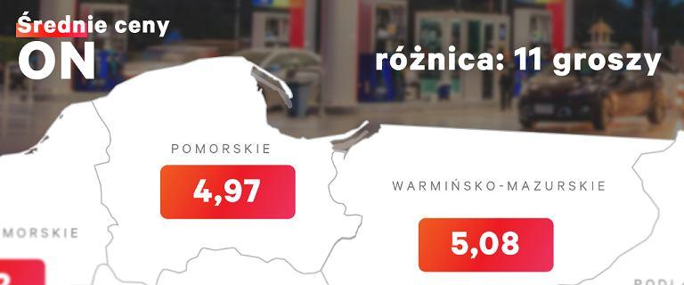 Ceny paliw w sąsiednich województwach różnią się aż o 11 groszy. Gdzie najdrożej?