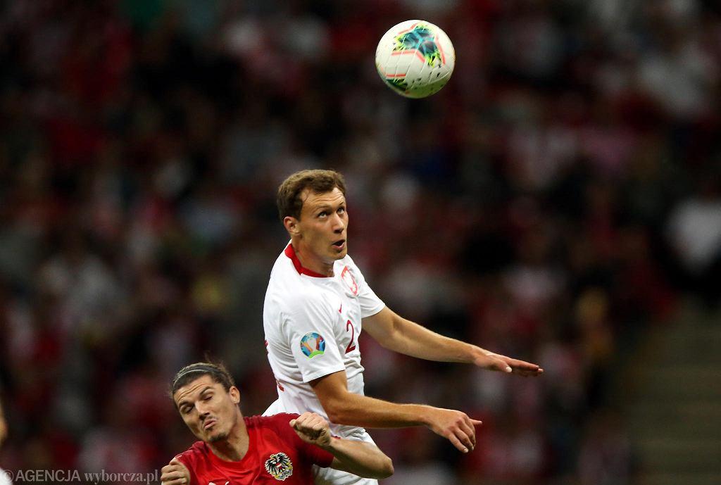 Krystian Bielik (z prawej) w meczu Polska - Austria