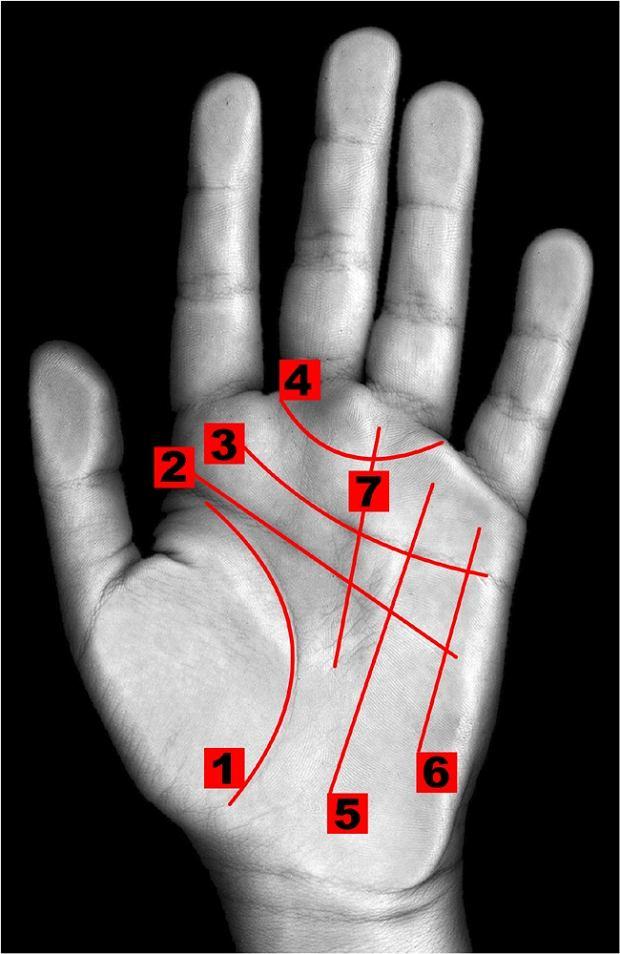 Znaki na dłoni
