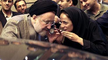 Mohammad Khatami (były prezydent Iranu) i Masih Alinejad w Teheranie
