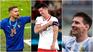 Jorginho, Robert Lewandowski i Leo Messi