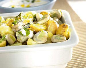 Młode ziemniaki z bobem