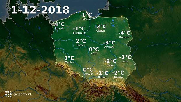 Pogoda na sobotę. Temperatura w całym kraju będzie się wahać między wartościami dodatnimi i ujemnymi