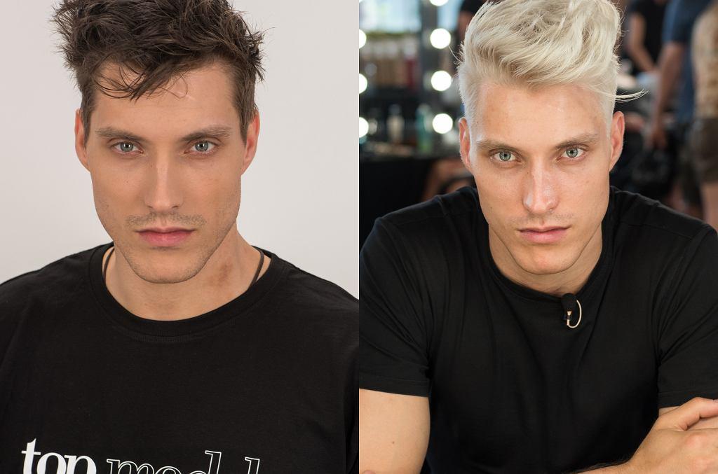Piotr Muszyński z 'Top Model' przed i po metamorfozie