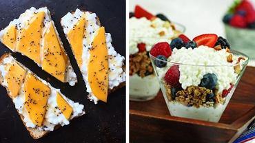 Twarożek można jeść na słodko i słono, wszystko zależy od dodatków.