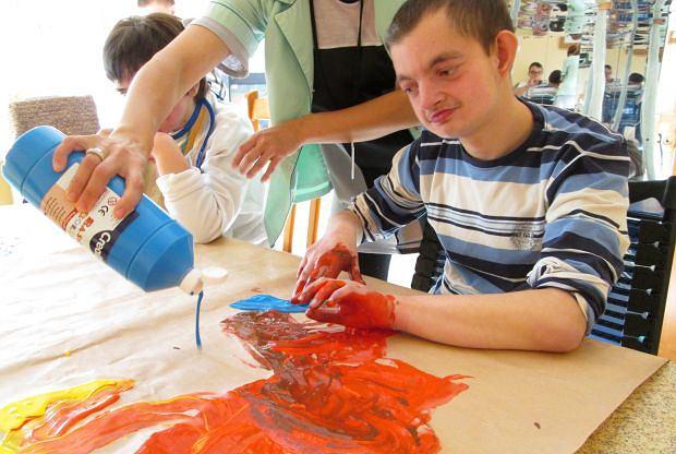 Zajęcia dla osób niepełnosprawnych organizowane przez Stowarzyszenie '25plus. Nasza przyszłość'