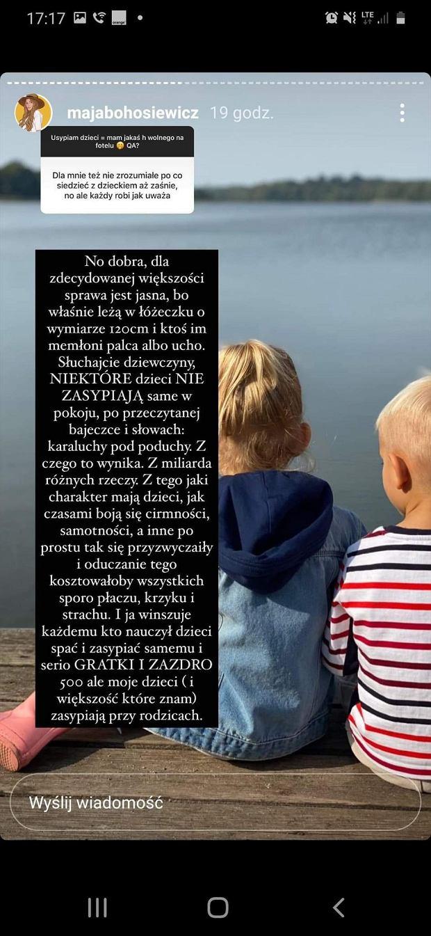 Maja Bohosiewicz o usypianiu dzieci