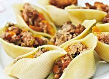 Muszle makaronowe z grzybami i tuńczykiem - ugotuj