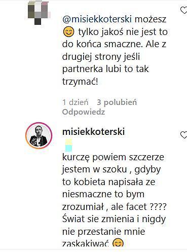 Misiek Koterski wszedł w dyskusję z internautą
