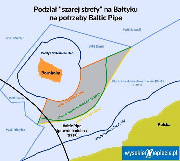 Podział 'szarej strefy' Bałtyku między Polską i Danią