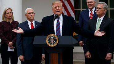 Prezydent Donald Trump podczas konferencji prasowej, 4 stycznia 2019.