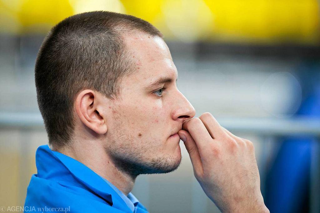 Bartosz Kurek z Dynamo Moskwa w czasie meczu z PGE Skrą Bełchatów