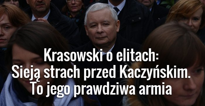 Krasowski o elitach