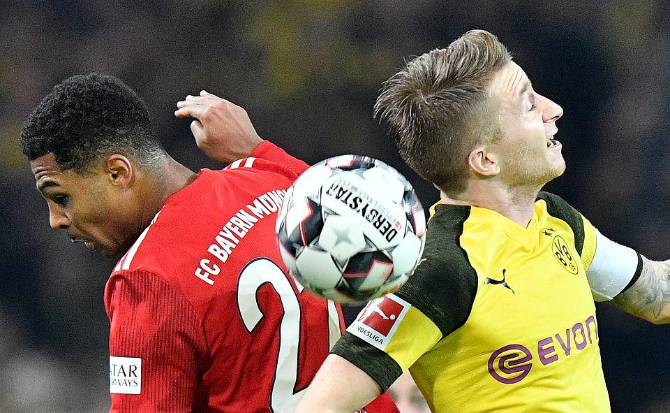 Bayern - Borussia, listopad 2018 r. Serge Gnabry kontra Marco Reus