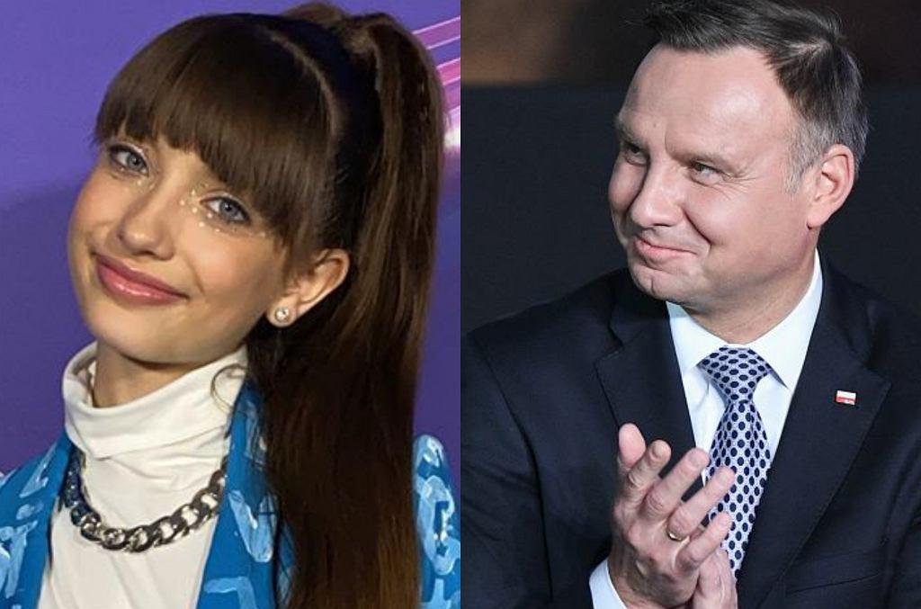 Viki Gabor i Andrzej Duda