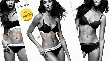 Joan Smalls w kampanii Zalando i CK Underwear