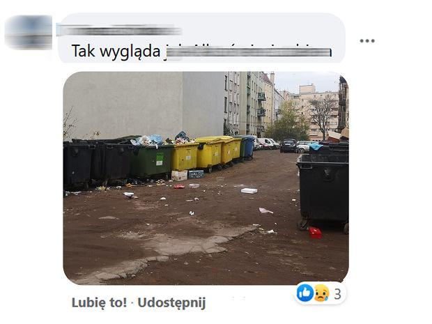 Mieszkańcy Wrocławia publikują w sieci zdjęcia przepełnionych koszy