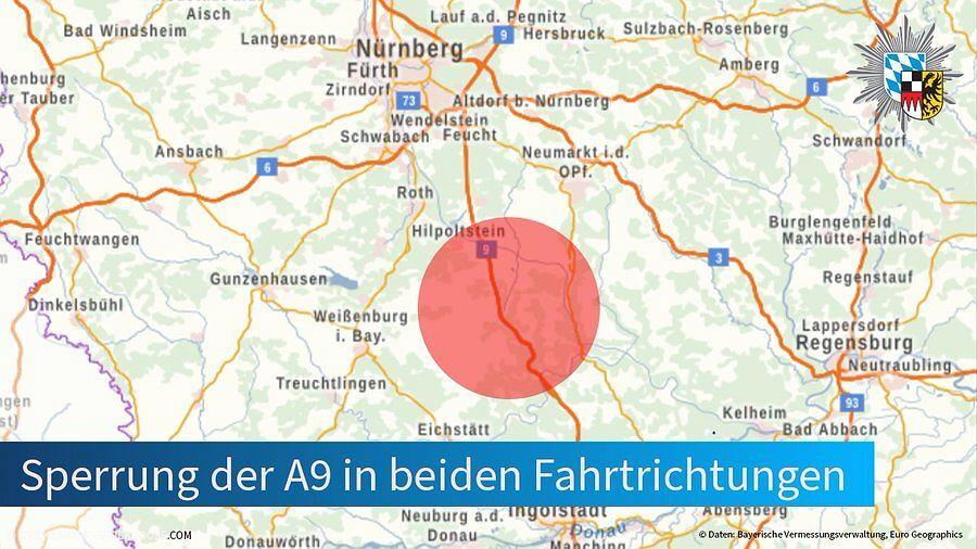 Do zdarzenia doszło na autostradzie A9 w Bawarii.
