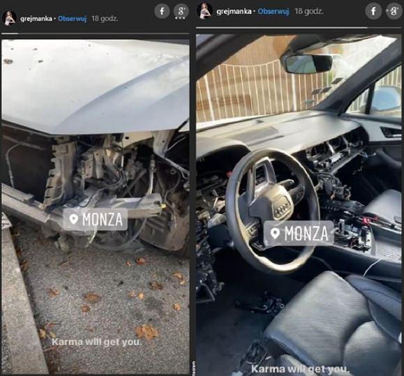 Wandale zniszczyli samochód Bartosza Kurka