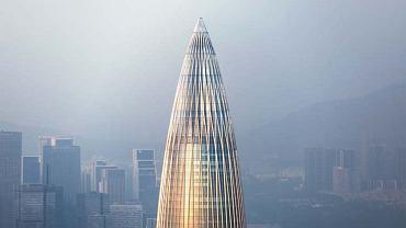 Jedna z finałowych prac. Budynek China Resources Headquarters w Shenzhen, Chiny