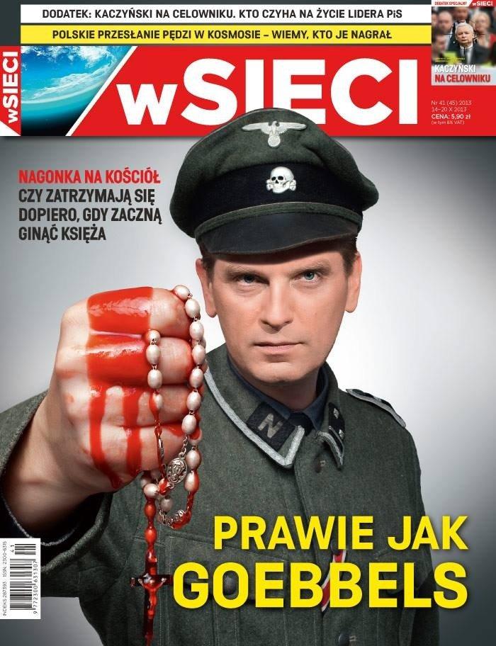 Tomasz Lis na okładce tygodnika 'wSieci'