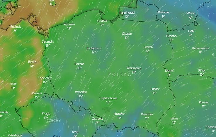 Alert pogodowy. IMGW ostrzega: Wiatr osiągnie dziś prędkość do 70 km/h