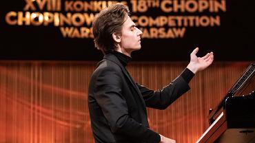Marcin Wieczorek podczas 18. Konkursu Chopinowskiego