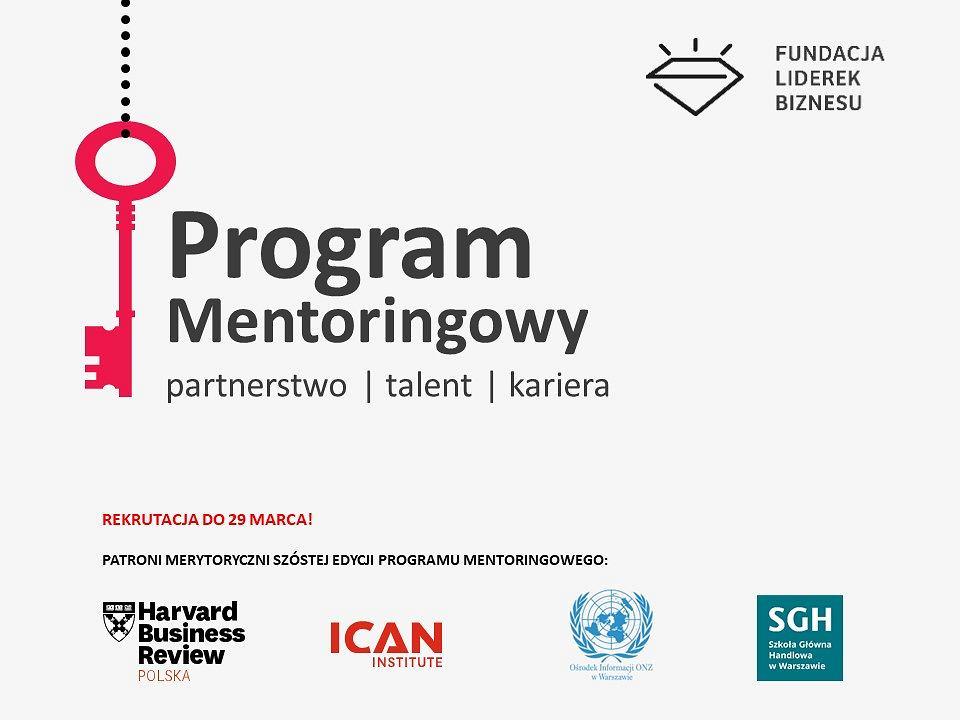 Zapraszamy do udziału w VI edycji Programu Mentoringowego Fundacji Liderek Biznesu!