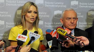 Magdalena Ogórek i Leszek Miller