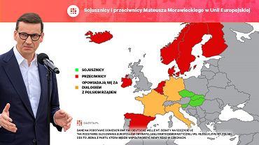 Sojusznicy i przeciwnicy Mateusza Morawieckiego w Unii Europejskiej