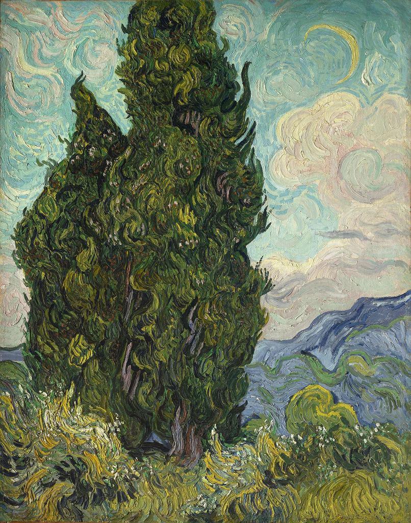 Vincent van Gogh, Cyprysy, 1889 / Domena publiczna / Metropolitan Museum of Art
