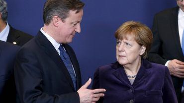 David Cameron i Angela Meerkel na szczycie w Brukseli