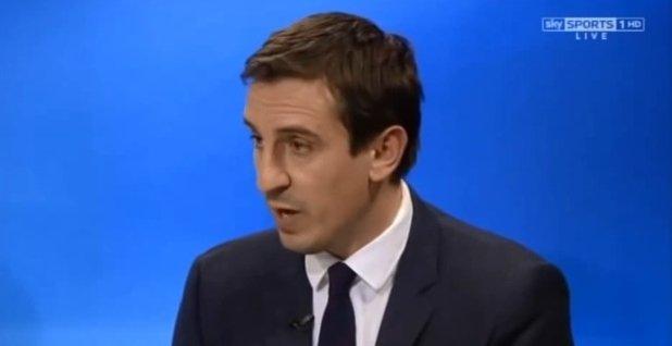 Gary Neville w telewizji SkySports