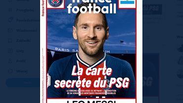 Leo Messi w koszulce PSG na okładce France Football